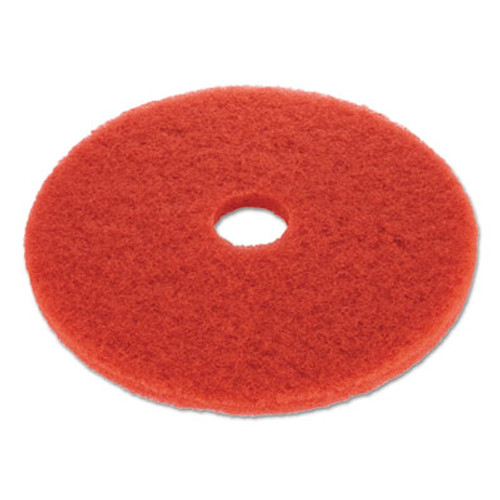 "Boardwalk Floor Buffing Pad, 19"" Diameter, Red, 5/Carton (PAD 4019 RED)"