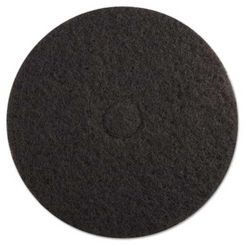 "Boardwalk Standard Floor Pads, 19"" Diameter, Black, 5/Carton (PAD 4019 BLA)"