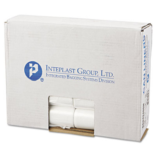 Inteplast Group Perforated High-Density Can Liners, 10gal, 24 x 24, 6mic, Natural, 1000/Carton (IBS EC242406N)