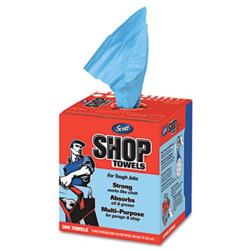 Scott Shop Towels, POP-UP Box, Blue, 10 x 13, 200/Box, 8 Boxes/Carton (KCC 75190)