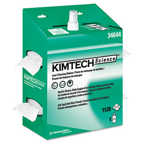 Kimtech* KIMWIPES Lens Cleaning, 16oz Spray, 4 2/5 X 8 1/2, 1120 Wipes/Box, 4/Carton (KCC 34644)