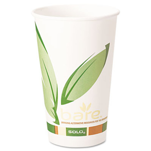 Dart Bare by Solo Eco-Forward Recycled Content PCF Paper Hot Cups, 16 oz, 1,000/Ct (SCC 316RC)