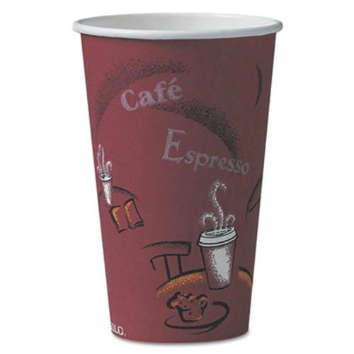 Dart Bistro Design Hot Drink Cups, Paper, 16oz, Maroon, 1000/Carton (SCC316SI)