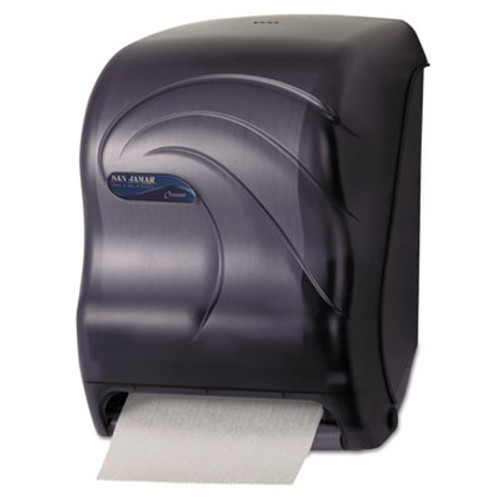 San Jamar Electronic Touchless Roll Towel Dispenser, 11 3/4 x 9 x 15 1/2, Black (SAN T1390TBK)