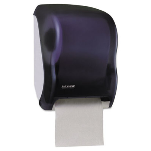 San Jamar Electronic Touchless Roll Towel Dispenser, 11 3/4 x 9 x 15 1/2, Black (SAN T1300TBK)