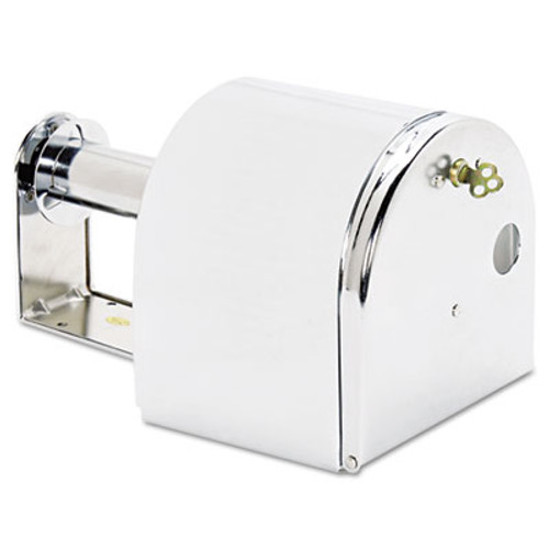 San Jamar Covered Reserve Roll Toilet Dispenser, 10 x 6 1/4 x 6, Chrome (SAN R1500XC)