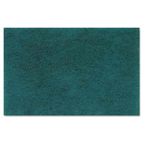 Boardwalk Medium Duty Scour Pad, Green, 6 x 9, 20/Carton (PAD 196)