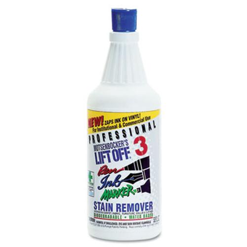 Motsenbocker's Lift-Off Lift Off #3: Pen, Ink & Marker Graffiti Remover, 32oz Pour Bottle, 6/Carton (MTS 40903)