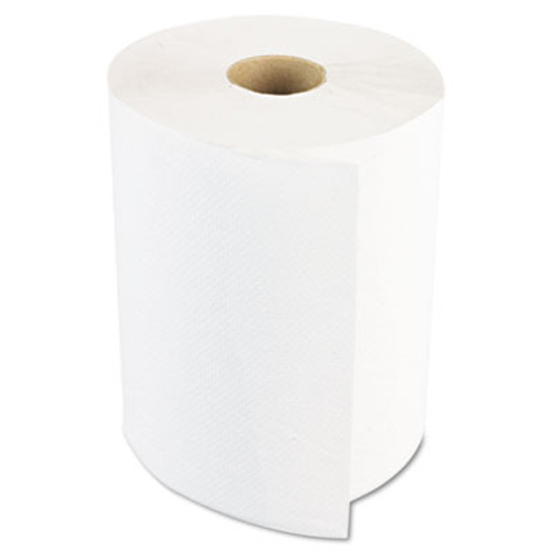 "Boardwalk Hardwound Paper Towels, 1-Ply, 8"" x 600ft, White, 2"" Core, 12 Rolls/Carton (BWK 6261)"