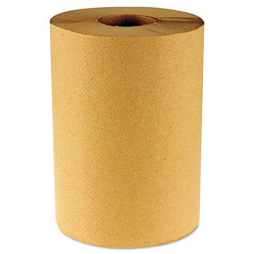 Boardwalk Hardwound Paper Towels, Nonperforated 1-Ply Kraft, 800ft, 6 Rolls/Carton (BWK 6256)