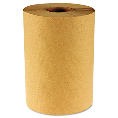 Boardwalk Hardwound Paper Towels, Nonperforated 1-Ply Natural, 800 ft, 6 Rolls/Carton (BWK 6256)