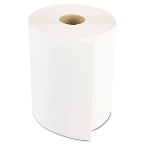 Boardwalk Hardwound Paper Towels, Nonperforated 1-Ply White, 350 ft, 12 Rolls/Carton (BWK 6250)