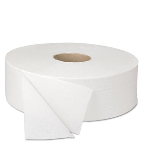 Boardwalk JRT Bath Tissue, Jumbo, 2-Ply, White, 2000 ft/Roll, 6 Rolls/Carton (BWK 6102)