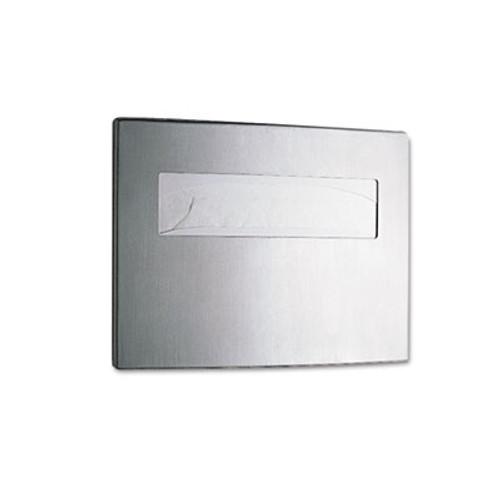 Bobrick Toilet Seat Cover Dispenser, 15 3/4 x 2 1/4 x 11 1/4, Stainless Steel (BOB 4221)
