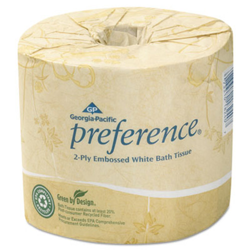 Georgia Pacific Embossed 2-Ply Bathroom Tissue, 550 Sheet/Roll, 80 Rolls/Carton (GPC1828001)