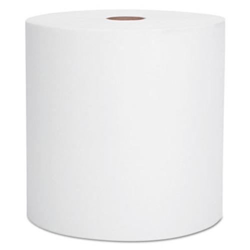 "Scott Hard Roll Towels, 1.5"" Core, 8"" x 1000ft, Recycled, White, 6 Rolls/Carton (KCC 01005)"