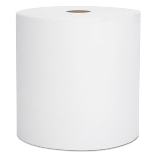 "Scott Hard Roll Towels, 1.5"" Core, 8"" x 1000ft, Recycled, White, 6 Rolls/Carton (KCC 01005)"