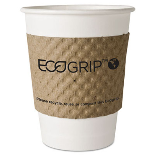 Eco-Products EcoGrip Hot Cup Sleeves - Renewable & Compostable, 1300/CT (ECP EG-2000)