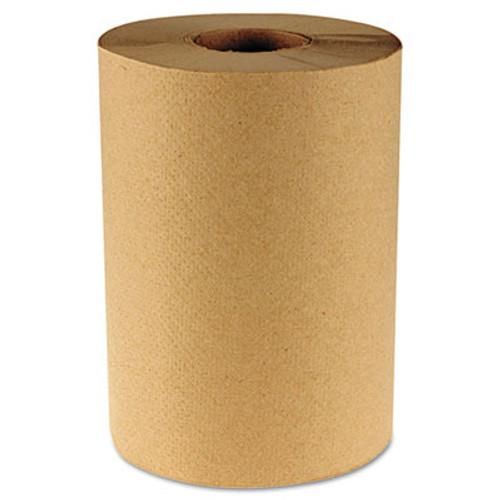 """Boardwalk Hardwound Paper Towels, 8"""" x 350ft, 1-Ply Kraft, 12 Rolls/Carton (BWK 6252)"""