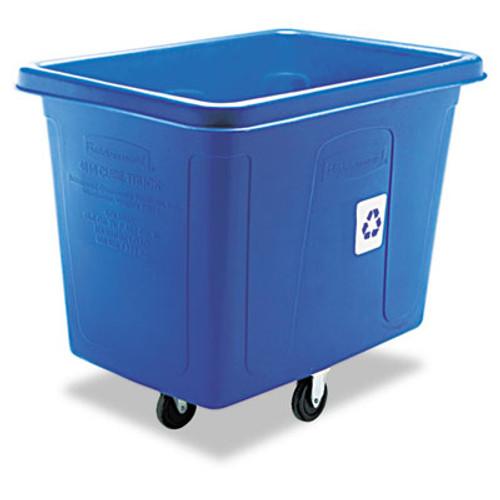 Rubbermaid Recycling Cube Truck, Rectangular, Polyethylene, 500lb Cap, Blue (RCP 4616-73 BLU)