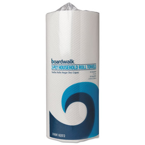 Boardwalk Kitchen Roll Towels, Perforated, 2-Ply, White, 85 Sheets/Roll, 30 Rolls/Carton (BWK 6272)