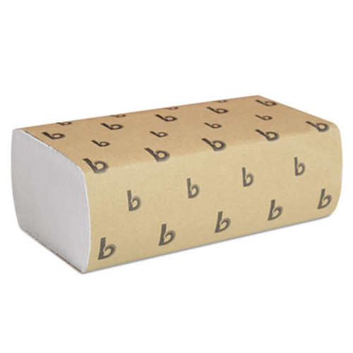 Boardwalk Multifold Paper Towels, White, 9 x 9 9/20, 250 Towels/Pack, 16 Packs/Carton (BWK 6200)