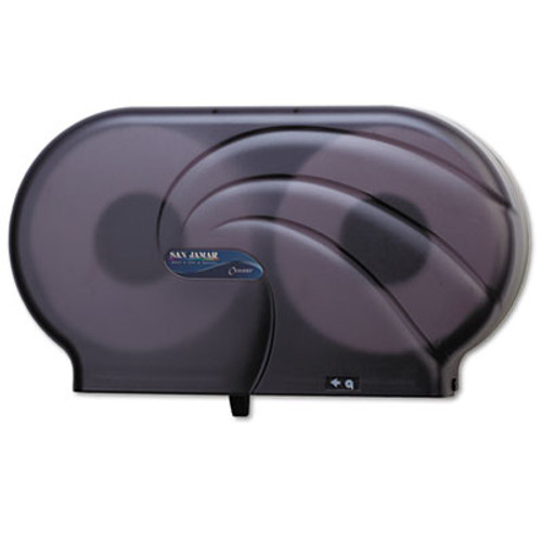 "San Jamar Twin 9"" JBT Toilet Tissue Dispenser, Oceans, 19 x 5 1/4 x 12, Black Pearl (SAN R4090TBK)"