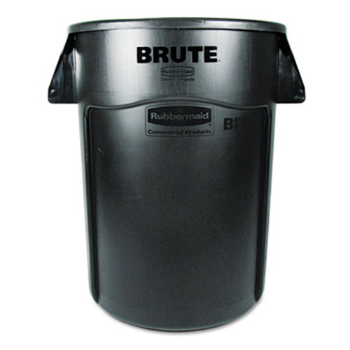 Rubbermaid Brute Vented Trash Receptacle, Round, 44 gal, Black (RCP 2643-60 BLA)