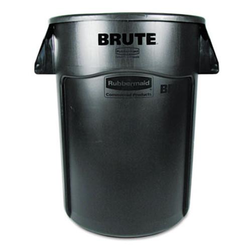 Rubbermaid Brute Vented Trash Receptacle, Round, 44 gal, Black (RCP 2643-60 BLA)