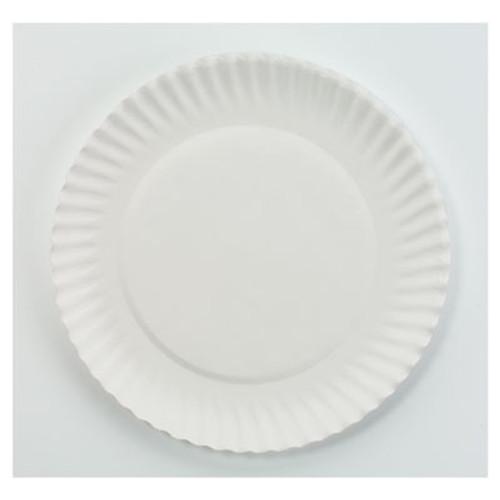 "AJM Packaging Corporation White Paper Plates, 6"" dia, 100/Bag, 10 Bags/Carton (AJMPP6GREWH)"