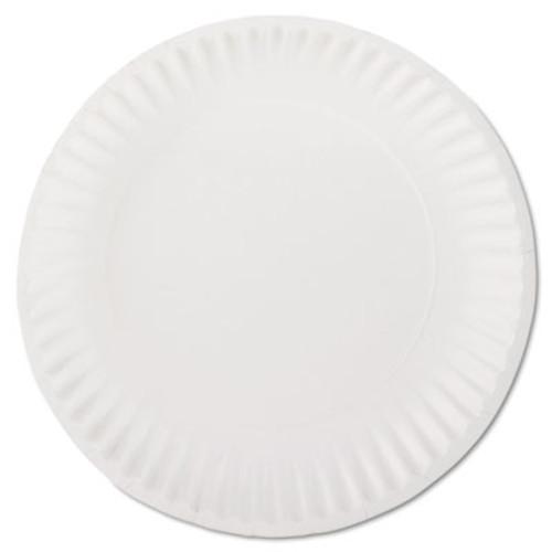 "AJM Packaging Corporation White Paper Plates, 9"" Diameter, 100/Bag, 10 Bags/Carton (AJMPP9GREWH)"