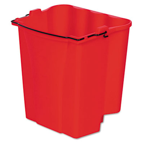 Rubbermaid Dirty Water Bucket for Wavebrake Bucket/Wringer, 18qt, Red (RCP 9C74 RED)