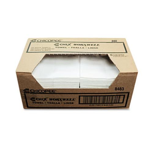 Chix Multipurpose Towel, Cloth, 13 x 15, White, 300/Carton (CHI 8483)