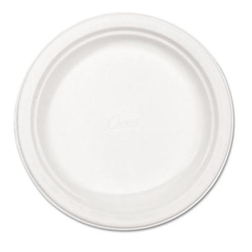 "Chinet Paper Dinnerware, Plate, 8 3/4"" dia, White, 500/Carton (HUH VERDICT)"
