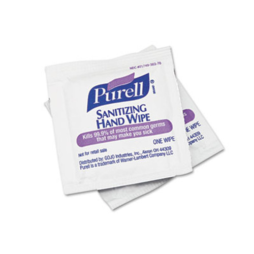 PURELL Sanitizing Hand Wipes, 5 x 7, 100/Box (GOJ902210BX)