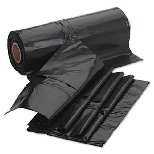 Jaguar Plastics Industrial Drum Liners, Rolls, 2.7mil, 38 x 63, Black, 50 Bags/Roll, 1 Rolls/CT (JAG D38634BN)