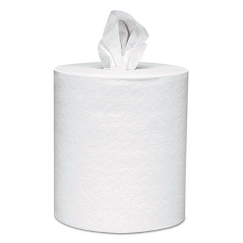 Scott Roll-Control Center-Pull Towels, 8 x 12, White, 700/Roll, 6 Rolls/Carton (KCC 01032)