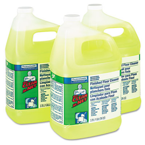 Mr. Clean Finished Floor Cleaner, Lemon Scent, One Gallon Bottle, 3/Carton (PGC 02621)
