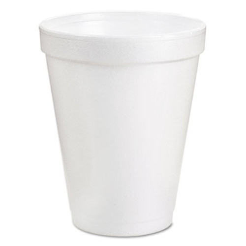 Dart Foam Drink Cups, 8oz, White, 25/Bag, 40 Bags/Carton (DCC 8J8)