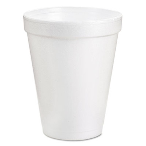 Dart Foam Drink Cups, 6oz, White, 25/Bag, 40 Bags/Carton (DCC 6J6)