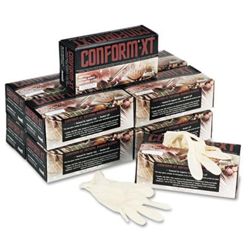 Conform XT Premium Latex Disposable Gloves, Powder-Free, Medium, 100/Box (ANS69318M)