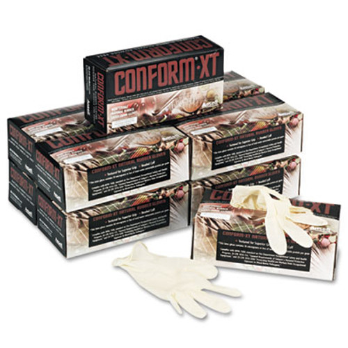 Conform XT Premium Latex Disposable Gloves, Powder-Free, Medium, 100/Box (ANS69318M)