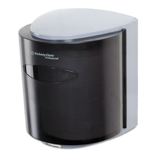 Kimberly-Clark Professional* Roll Control C-Pull Dispenser, 10 3/10w x 9 3/10d x 11 9/10h, Smoke/Gray (KCC 09989)