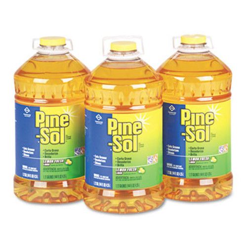 Pine-Sol All Purpose Cleaner, Lemon Fresh, 144 oz Bottle, 3/Carton (CLO 35419)