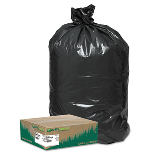 Earthsense Recycled Large Trash and Yard Bags, 33gal, .9mil, 32.5 x 40, Black, 80/Carton (WEB RNW1TL80)