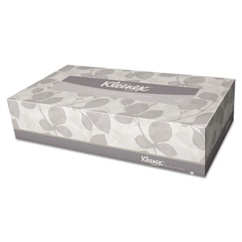 Kleenex White Facial Tissue, 2-Ply, White, Pop-Up Box, 125/Box (KCC 21606)