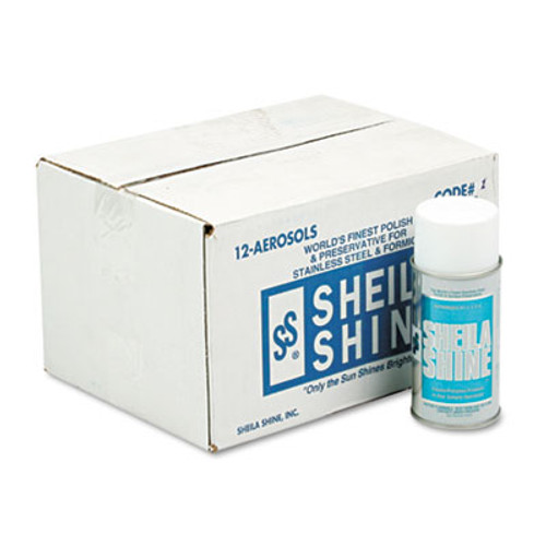 Sheila Shine Stainless Steel Cleaner & Polish, 10oz Aerosol, 12/Carton (SSI 1)