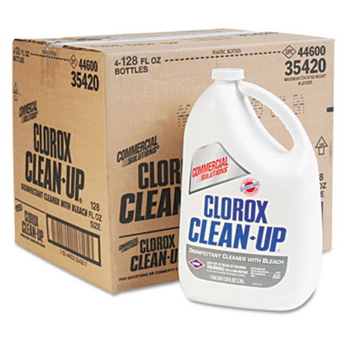 Clorox Clean-Up Disinfectant Cleaner with Bleach, Fresh, 128 oz Refill Bottle, 4/Carton (CLO 35420)