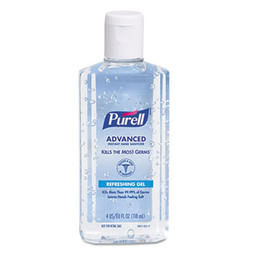 PURELL Advanced Instant Hand Sanitizer w/Aloe, 4oz Flip-Cap Bottle, 24/Carton (GOJ 9631)