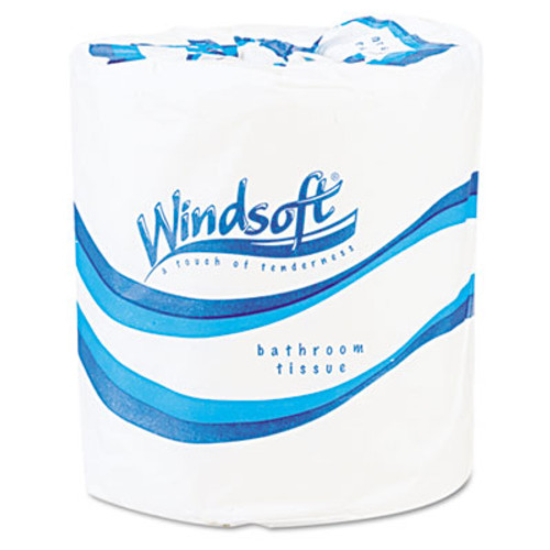 Windsoft Single Roll Two Ply Premium Bath Tissue, 500 Sheets/Roll, 96 Rolls/Carton (WIN 2200)